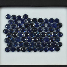 Load image into Gallery viewer, 4.2-5.3  MM Natural Blue Sapphire Loose Gemstone Round Cut