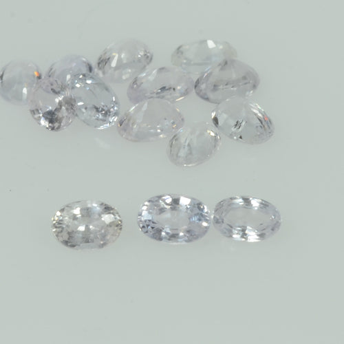 Natural White Sapphire Loose  Gemstone VS Quality  Oval Cut