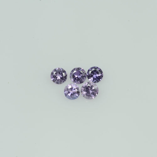2-3.5  mm Natural Lavender Purple  Sapphire Loose Gemstone Round Diamond Cut Cleanish  Quality