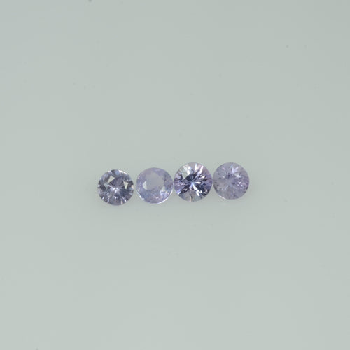 2.5-4.0 mm Natural Lavender Purple  Sapphire Loose Gemstone Round Diamond Cut Vs Quality