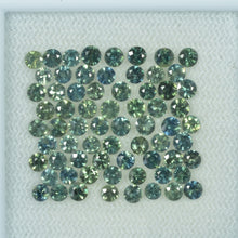 Load image into Gallery viewer, 2-3.5 mm Natural Teal Green Sapphire Loose Gemstone Round Diamond Cut Vs Quality Color