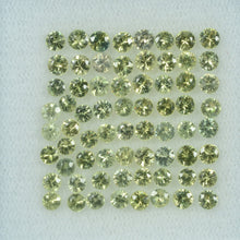 Load image into Gallery viewer, 1.4- 3.5 mm Natural Yellowish Green Sapphire Loose Gemstone Round Diamond Cut Color