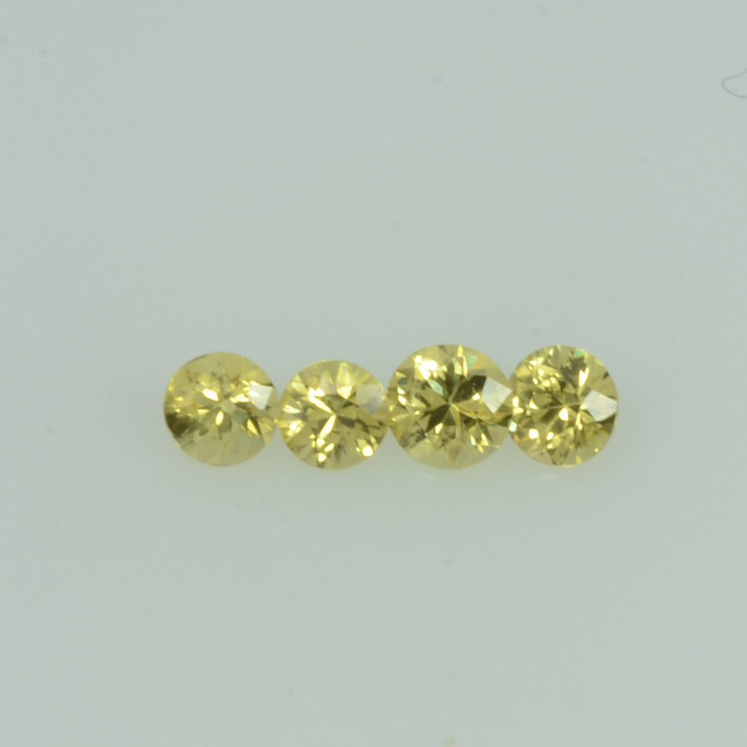 1.4- 3.5 mm Natural Yellow Sapphire Loose Gemstone Round Diamond Cut Color