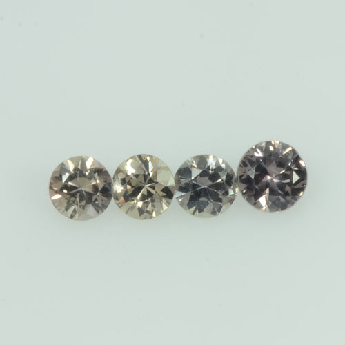 1.4-4.5 mm Natural Fancy Gold Sapphire Loose Gemstone Round Diamond Cut Color
