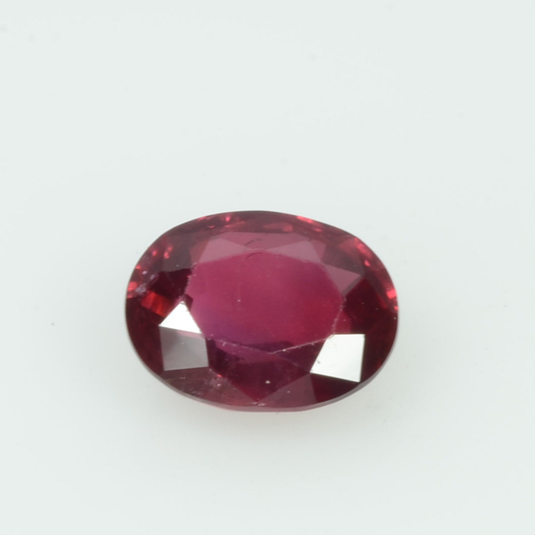 0.86 cts Natural Ruby Loose Gemstone Oval Cut
