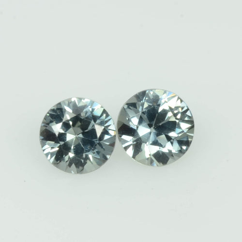 4.0 mm Natural Teal Green Sapphire Loose Pair Gemstone Round Cut