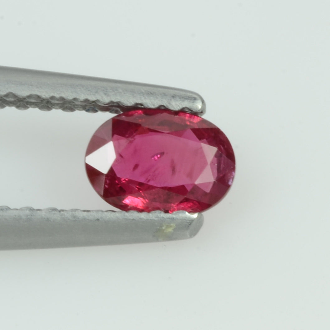 0.36 Cts Natural Vietnam Ruby Loose Gemstone Oval Cut