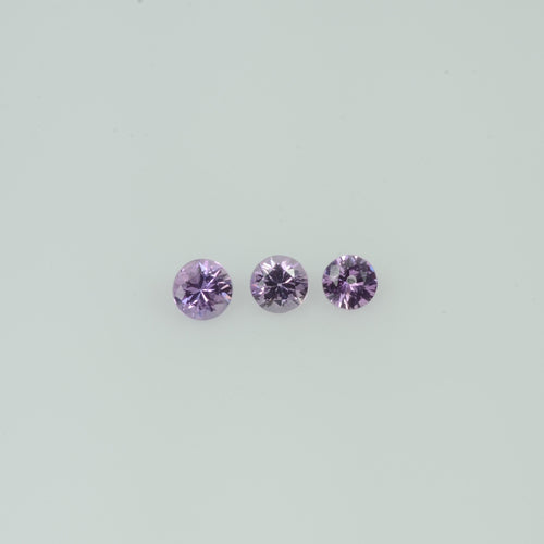 2-3.0  mm Natural Lavender Purple Sapphire Loose Gemstone Cleanish Quality Round Diamond Cut