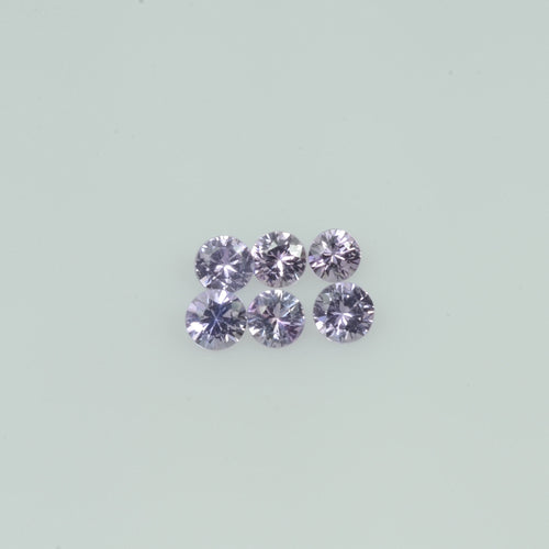 2-3  mm Natural Lavender Purple  Sapphire Loose Gemstone Round Diamond Cut Cleanish  Quality
