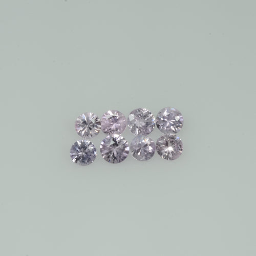 2.5-3.5  mm Natural Purple Pink Sapphire Loose Gemstone Round Diamond Cut Vs Quality A+ Color
