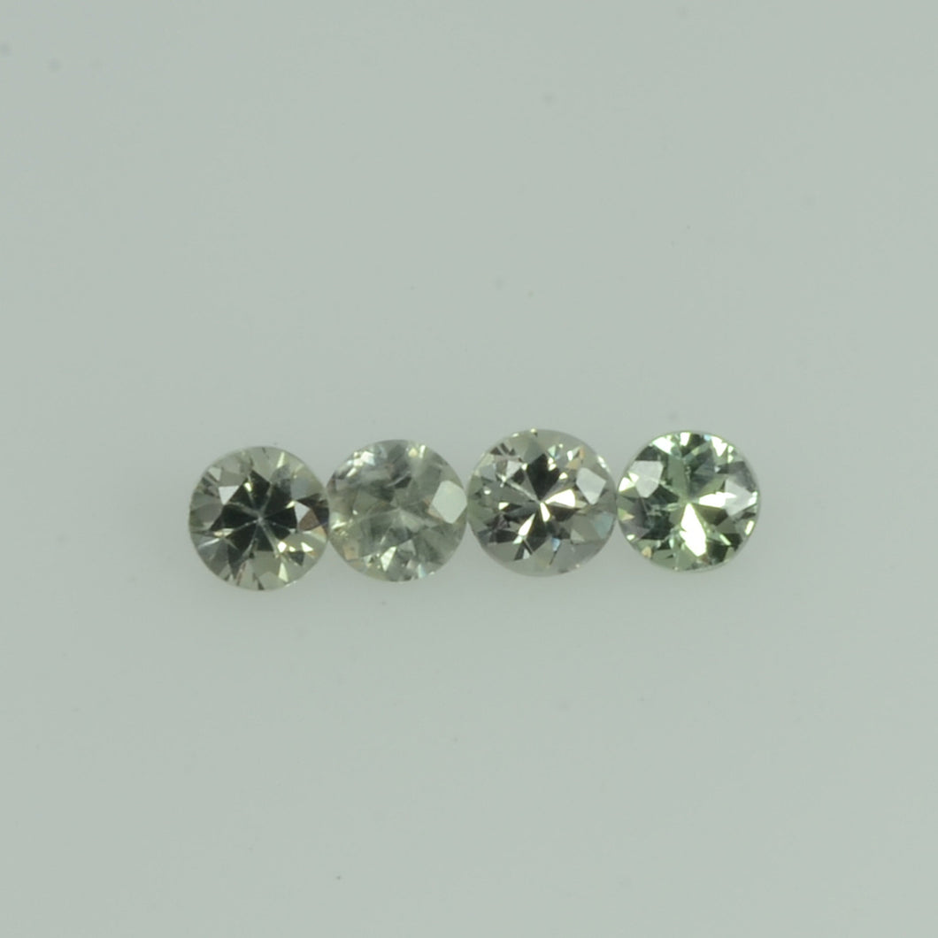 2-3.0  mm Natural Greenish Yellow  Sapphire Loose Gemstone Round Diamond Cut Vs Quality Color