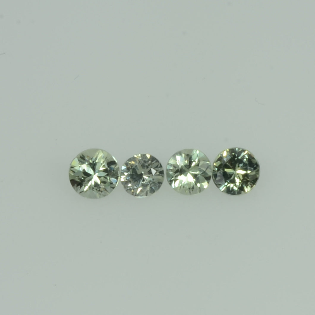 1.4-3.0  mm Natural Greenish Yellow  Sapphire Loose Gemstone Round Diamond Cut Vs Quality Color