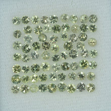 Load image into Gallery viewer, 1.4- 3 mm Natural Yellowish Green Sapphire Loose Gemstone Round Diamond Cut Color