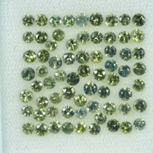Load image into Gallery viewer, 1.4-3.5 mm Natural Teal Green Sapphire Loose Gemstone Round Diamond Cut Color