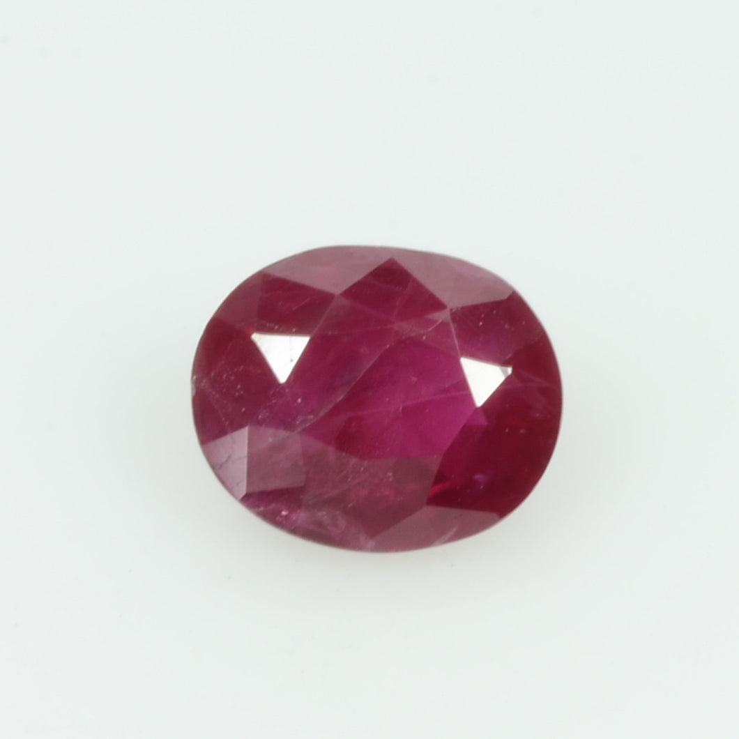0.80 cts Natural Burma Ruby Loose Gemstone Oval Cut