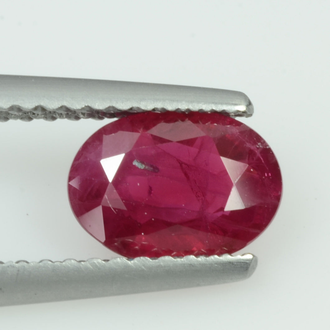 1.12 cts Natural Burma Ruby Loose Gemstone Oval Cut