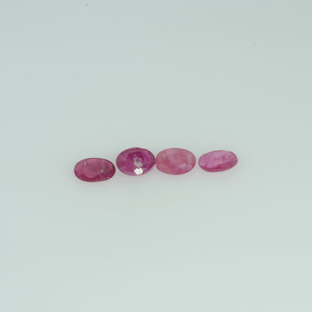 4x3 MM Natural Ruby Loose Gemstone Oval Cut