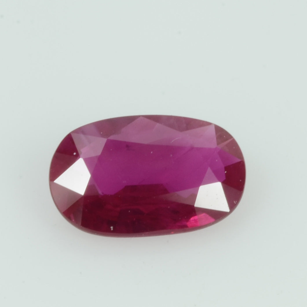 0.76 Cts Natural Vietnam Ruby Loose Gemstone Oval Cut