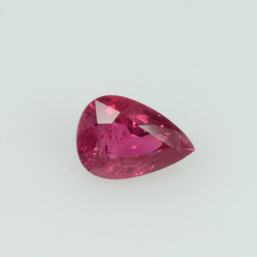 0.44 cts  Natural Vietnam Ruby Loose Gemstone Pear Cut