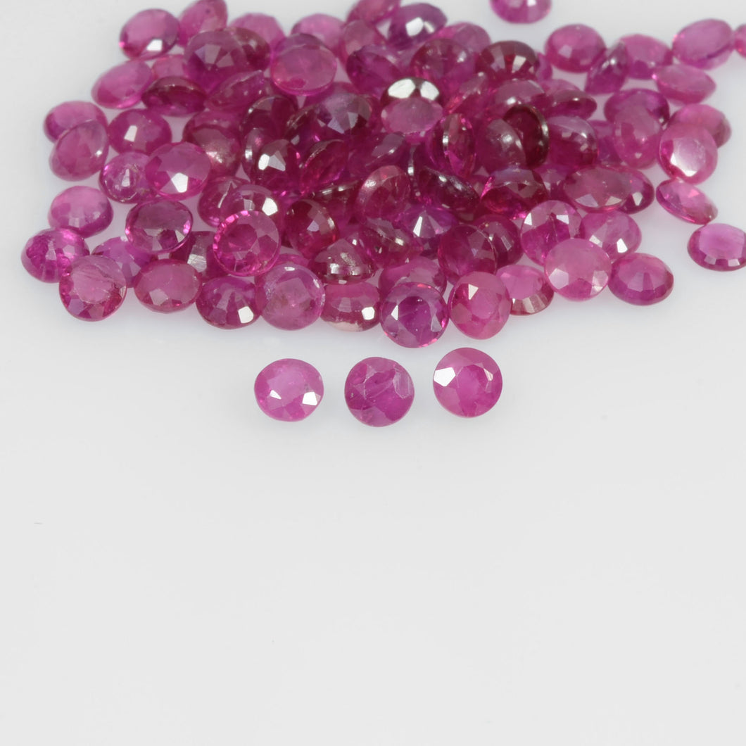 1.6-4.2 mm Natural Ruby Loose Gemstone Round Cut