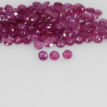 Load image into Gallery viewer, 1.6-4.2 mm Natural Ruby Loose Gemstone Round Cut