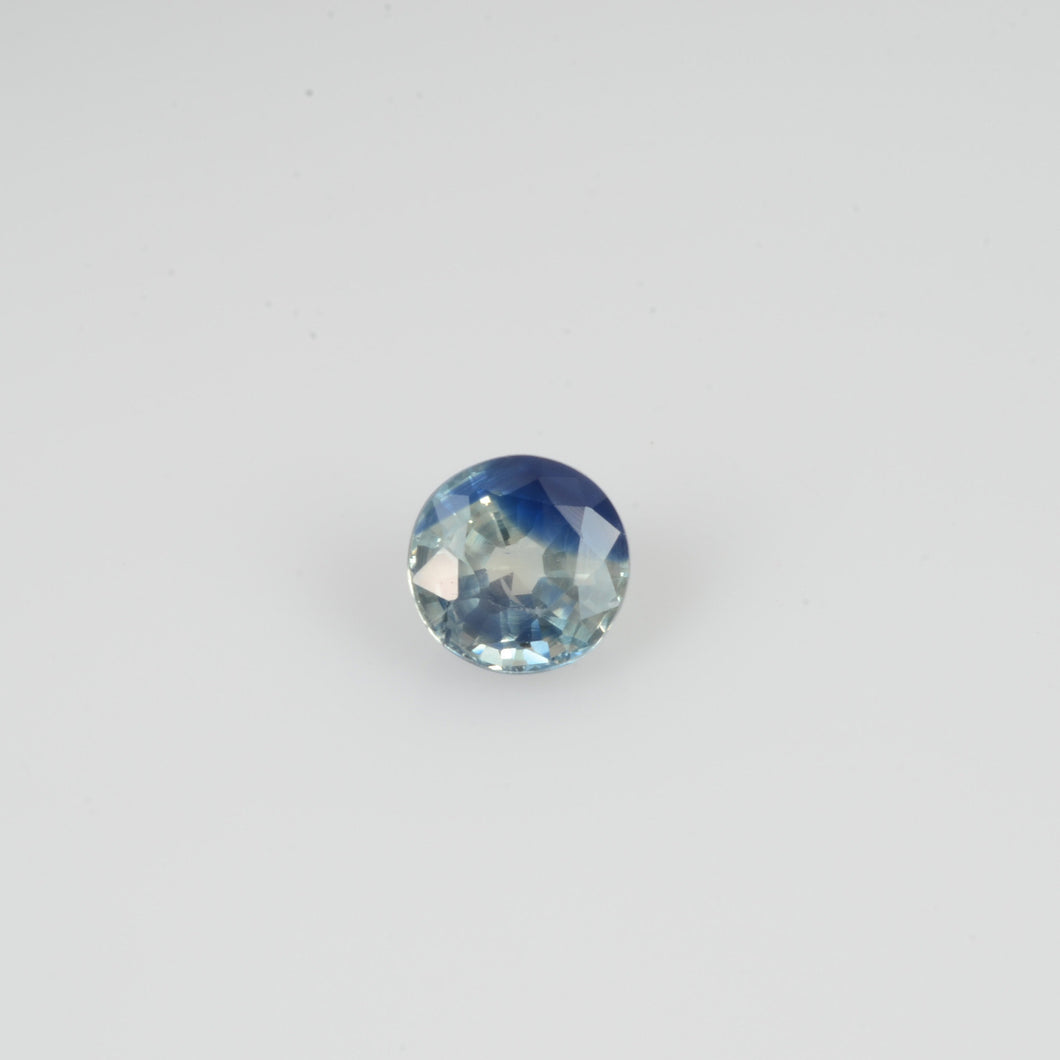 5.7 mm Natural Bi-color Sapphire Loose Gemstone Round Cut