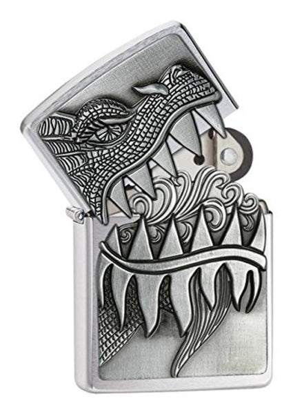 Zippo Fire Breathing Dragon Emblem Lighter #28969