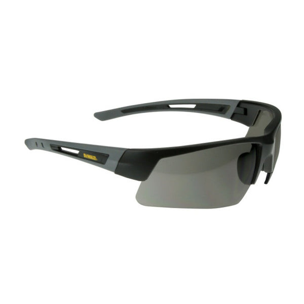 DeWalt Crosscut Safety Glasses, Black Frame, Smoke Lens, Comfort Fit #DPG100-2D