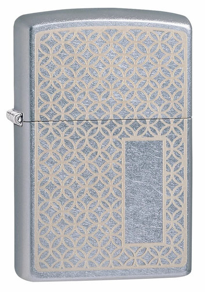 Zippo Pattern Panel Engraveable Street Chrome Genuine Windproof Lighter #49212