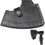 Scorpion Mart Handmade Carbon Steel Axe, Black Ashwood Handle + Sheath #AXE4