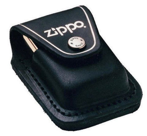 Zippo Belt Loop Black Leather Pouch For Zippo Lighters #LPLBK