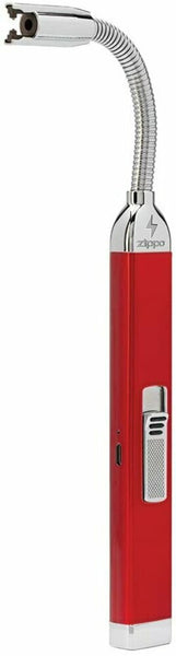 Zippo Rechargeable Candle Lighter, Candy Apple Red + Charging Cord #121651