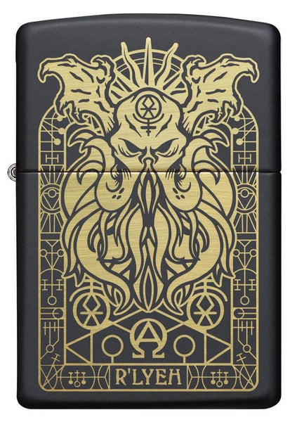 Zippo Monster Design, Cthulhu, Black Matte, Genuine Windproof Lighter #29965