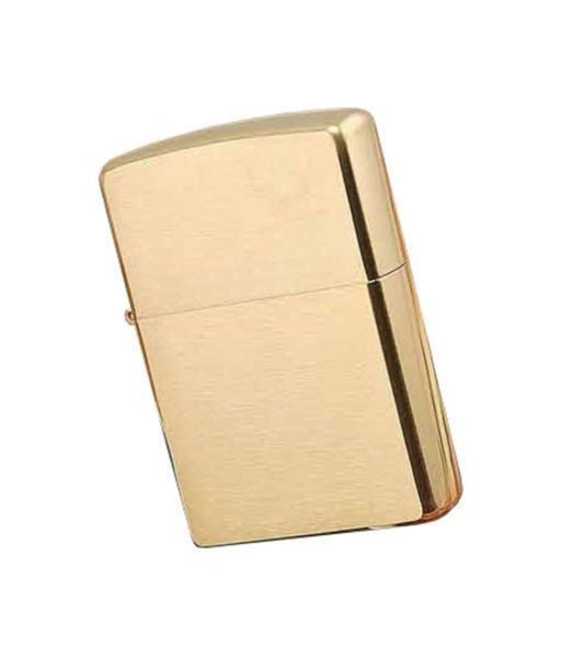 Zippo Lighter, Solid Brass, Brushed Finish, Classic #204B