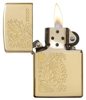 Zippo Paisley Design Lighter, High Polish Brass #29609