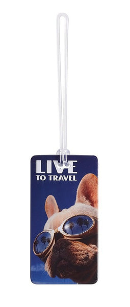 Lewis N. Clark Fashion Luggage Tag, Live to Travel #7415