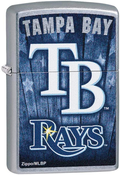 Zippo MLB Tampa Bay Rays, Street Chrome Finish, Windproof Lighter #29980