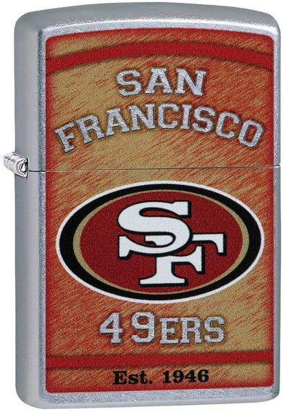 Zippo NFL San Francisco 49ers, Street Chrome Finish, Windproof Lighter #29959