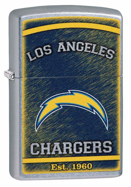 Zippo NFL Los Angeles Chargers, Street Chrome Finish, Windproof Lighter #29948