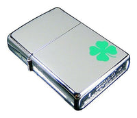Zippo A Bit O' Luck Green Clover, Irish, Chrome Finish, Genuine Lighter #24007