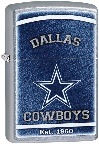 Zippo NFL Dallas Cowboys, Street Chrome Finish, Windproof Lighter #29940