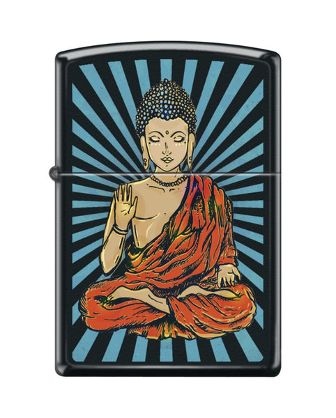 Zippo Buddha Rays, Spiritual, Black Matte Finish, Windproof Lighter #218-082791