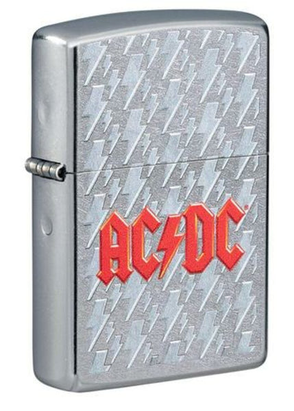 Zippo AC/DC Music Logo, Street Chrome Finish, Genuine Windproof Lighter #49236