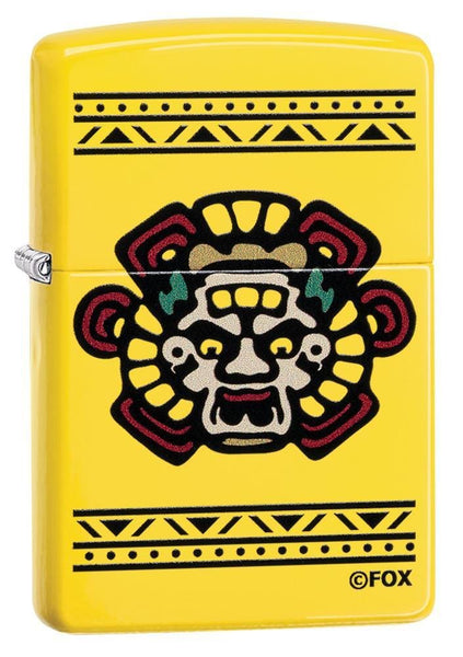 Zippo Sons of Anarchy Mayans M.C., Lemon Matte, Genuine Windproof Lighter #49020