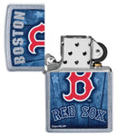 Zippo MLB Boston Red Sox, Street Chrome Finish, Genuine Windproof Lighter #29790
