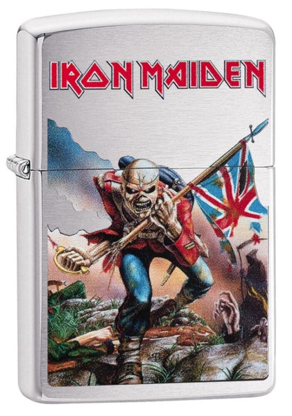 Zippo Iron Maiden, The Trooper, Eddie Lighter, Brushed Chrome, Windproof #29432