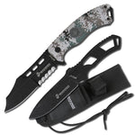 MTech Marines Fixed Blade Knife w/ Thrower + Molle Nylon Sheath_Camo #M-1032DM