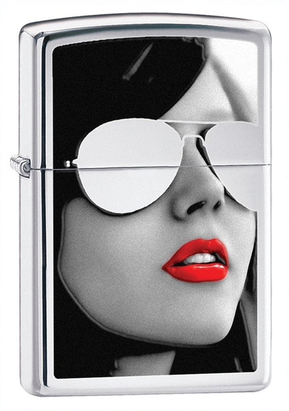Zippo BS Sunglasses Lighter, High Polish Chrome #28274