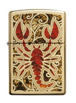Zippo Scorpion Shell, Fusion, High Polish Brass Windproof Lighter #29096