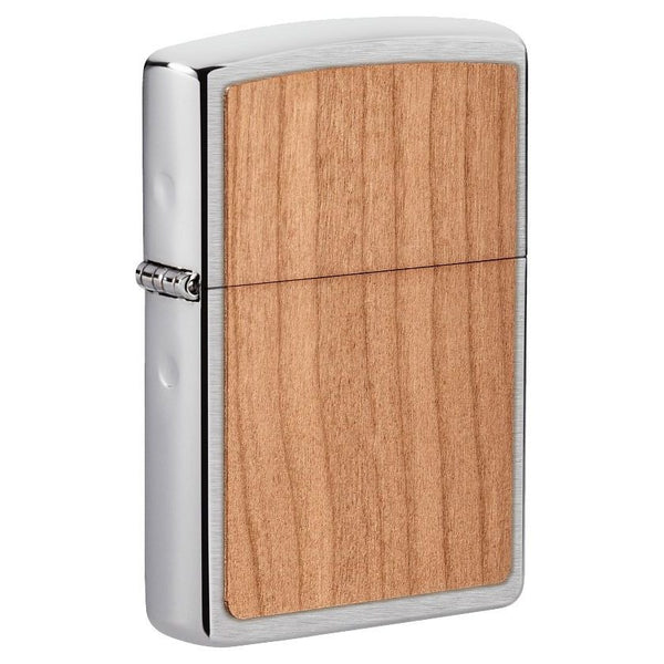 Zippo WOODCHUCK Cherry Wood Emblem, 100% Real Wood Lighter #49462